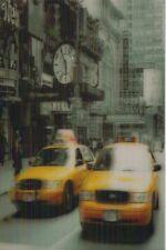 3 -D - Ansichtskarte: gelbe Taxis auf dem Times Square in New York, USA