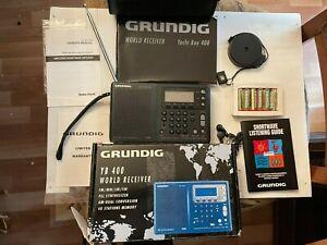 GRUNDIG YB400 Yacht Boy World Receiver FM/MW/LW/SW, Box, Antenna, Case, Manuals