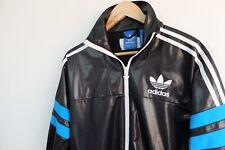 Rare Adidas Chile 62' Tracksuit jacket XS | Black blue trefoil wetlook shiny