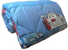 Trapunta Inverno letto Singolo Cars Disney Pixar Piumone Azzurro