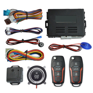 Car SUV Keyless Entry Engine Start Alarm System Push Button Remote Starter Stop