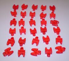 30 Used Lego 2 x 3 Red Technic Bionicle Connector with Ball Socket 32174