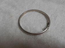 Vintage Sterling Silver .925 Etched Pattern Hinged Bangle Bracelet