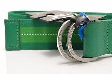 💎 Brand New J. Lindeberg Men's D-ring Stripped Webbing Green Belt - One size