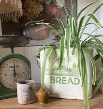 More details for rare vintage made in holland enamel windmill scene bread bin no lid