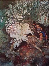 "EDMUND DULAC vintage mounted print, 12 x 10"", fairytale The Snow Queen  ED31"