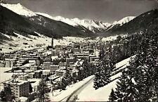Davos Graubünden Helvetia Marken AK 1964 Blick von der Höhenpromenade Tinzenhorn