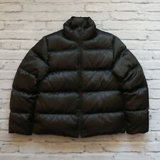 Rugby by Ralph Lauren Quilted Puffer Down Jacket Size M Black Vtg
