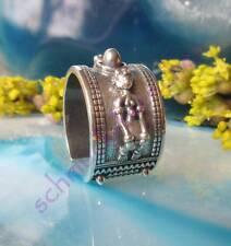 Ring Inka Maya Azteken Indianer plastische Figuren Sterling Silber 925