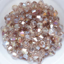 Free shipping New 100 PCS swarovski crystal 4mm #5301 Bicone Beads