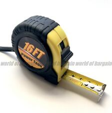 "16 ft 3/4"" Measuring Tape Carpenter Measure Tool Retracting Ruler Thumb Lock T36"