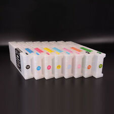 8pcs/set Refillable Ink Cartridge +Chip Reseter For Epson Stylus Pro GS 6000