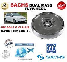 FOR VW GOLF V VI PLUS 2.0 TDi + 16V 2003-ON SACHS DMF DUAL MASS FLYWHEEL & BOLTS
