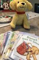 Biscuit Goes to School 10 book set BRAND NEW PLUSH INCLUDED Collection Dog Puppy