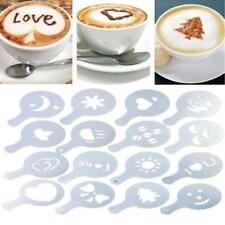 Coffee Machine Barista Stencils Template Strew Pad Duster Spray Art Xmas Gift