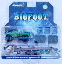 Greenlight Ford F250 Bigfoot 74 W/ Gooseneck Trailer and Large Tires 1/64 30054