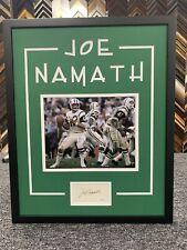 Joe Namath Signed Cut Jsa Auto Custom Framed Ny Jets