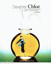 PUBLICITE ADVERTISING 026  1978  Karl Lagerfeld  parfum Chloé