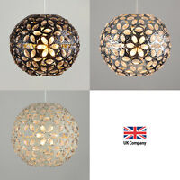 Shabby Chic Metal Moroccan Ceiling Light Shade Pendant Vintage Style Shades NEW