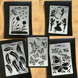 Fairy Butterfly Magical Christmas Card Making Stencils Templates Paint Drawing
