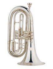 New  Marching Nickel Plated Baritone Horn Outift Bb Key   #2868