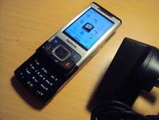 Original Nokia Senior básica de edad avanzada fácil de metal de 6500S 3G en tres móvil + carga