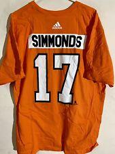 adidas Nhl T-Shirt Philadelphia Flyers Simmonds Orange sz 2X