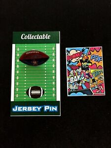 New England Patriots Tom Brady football lapel pin & vinyl sticker-Collectibles