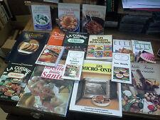 Lot de 16 livres de cuisine