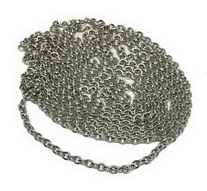 3mm wide x 4mm 304 stainless steel hypoallergenic cable chain non tarnish
