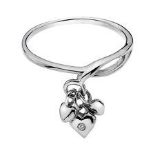 Echte Diamanten-Ringe mit Herz für Valentinstag