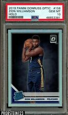 2019 Panini Donruss Optic Holo Prizm #158 Zion Williamson RC Rookie PSA 10