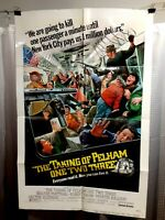 folded poster TAKING OF PELHAM 123 1974 USA1sht 27x41 ROBERT SHAW WALTER MATTHAU