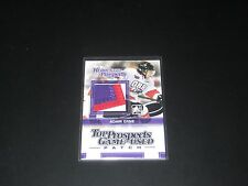 ADAM ERNE '13/14 Heroes & Prospects Top Prospects Game PATCH card *3 CLR* TPM-06