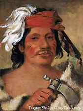 Native American Seneca Steele by George Catlin -1831 Native American Art Print