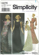 Simplicity 5876 75th Anniversary 1930s Evening Dress Pattern Size 6 8 10 12 OOP