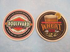 Beer Coaster ~*~ BOULEVARD Brewing Company Wheat ~ Kansas City, MISSOURI Brewery