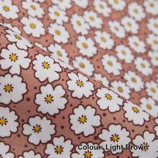 Tessuti e stoffe Floreale marrone in poliestere per hobby creativi