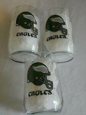 """3 - 4 1/2""""  PHILADELPHIA EAGLES GLASSES        (BX 43)"""