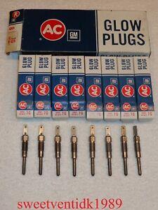 (8)...'NOS' AC-7G Glow Plugs....7G Glow Plugs.....GM #5613673.... MADE IN USA