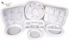 Plastic Plates Round Square Compartment Disposable Trays Thali Christmas Party