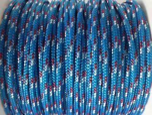 Reepschnur 4 mm blau-rot-weiss PES Polyester geflochten Flechtkordel Tauwerk