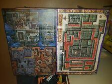 Dungeons & Dragons lot of 2 Maps - Zanzer's Dungeon & Harrow Hill / Wild Space