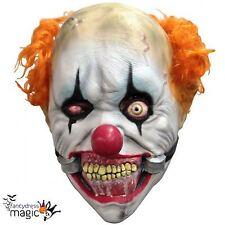Boys Latex Smiley Clown Scary Killer Halloween Horror Fancy Dress Costume Mask