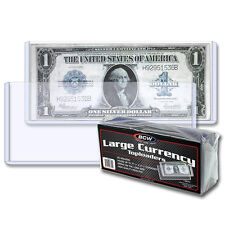 1 PACK of 25 BCW HOLDERS LARGE CURRENCY TOPLOADERS 7 9/16 x 3 3/8 (#CS15)
