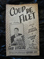 Partition Coup de filet Gus Viseur Valse  Etienne Luc
