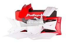 POLISPORT SET PLASTIQUE COMPLET CROSS MX BLANC ROUGE HONDA CRF 250 R 14-17