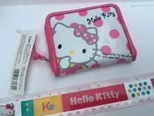 NEW Sanrio Original Classic Hello Kitty Wallet Coin Purse Vinyl Coated Cute Dots