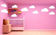 Set of Large Clouds Wall Decal – Nursery Wall Decal - Childs Room Wall Decal