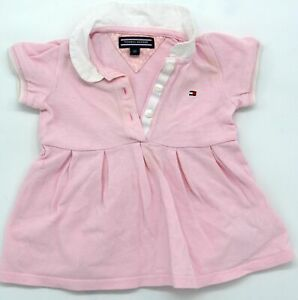 Original Baby Polo Dress By Tommy Hilfiger Size 0-3M 62